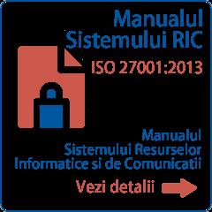 Manualul Sistemului Resurselor Informatice şi de Comunicaţii